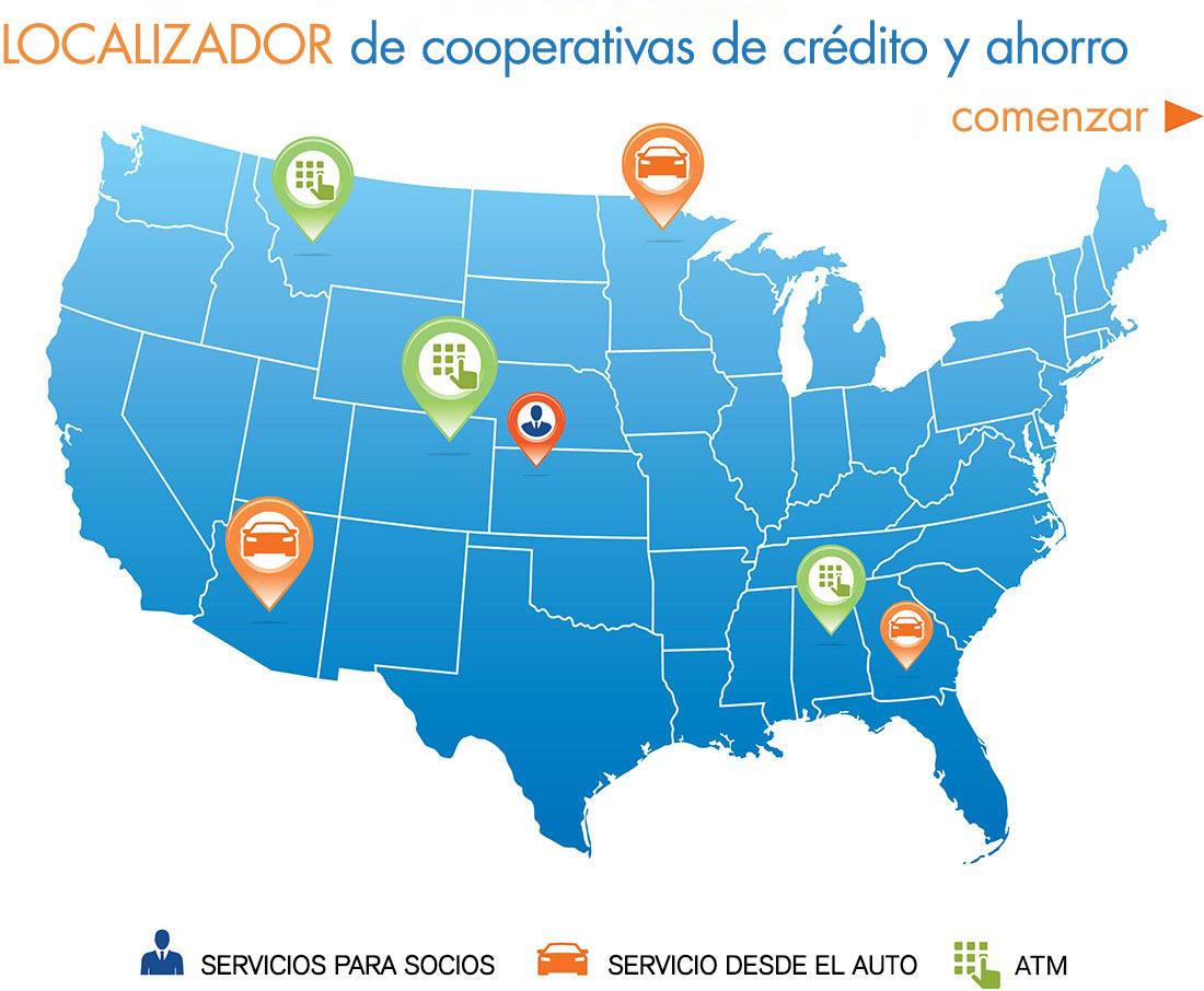 Localizador de cooperativas de ahorro y crédito - Comenzar