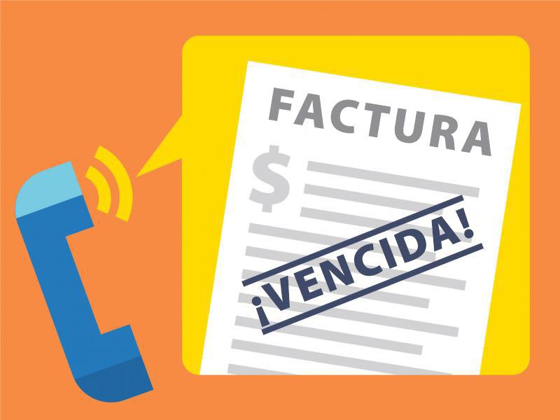 Factura vencida, que simboliza laherramienta de cobro de deuda para los consumidores
